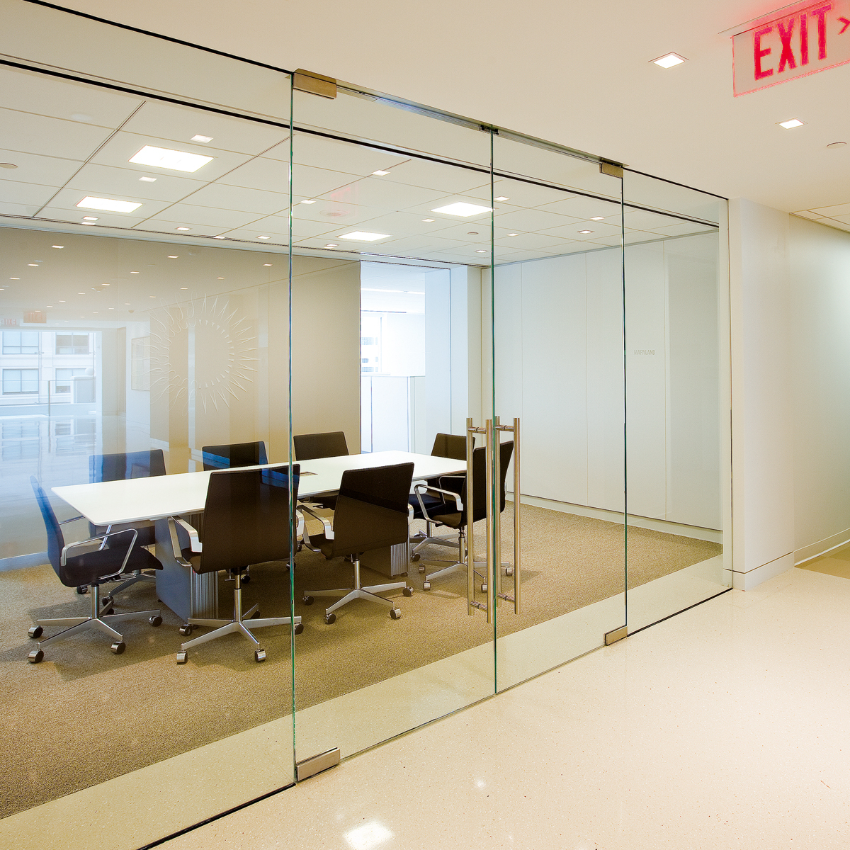 Glass Wall Interior Dormakaba Interior Glass Wall Systems Transparency And
