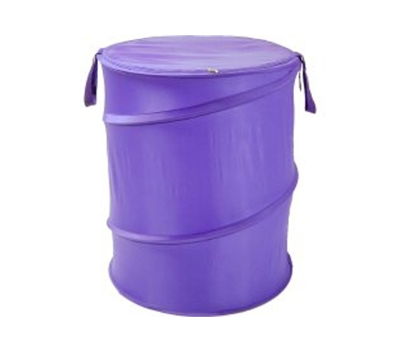 College Dorm Organizers Purple Bongo - Durable Dorm Laundry Hamper - Cool Color