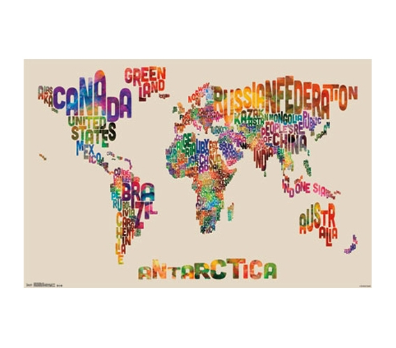 College Dorm Organizers World Map Color Poster - Best Dorm Room Decor