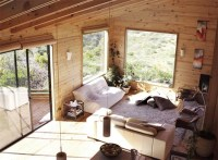 Creative Contemporary All-Wood Hillside Home Design