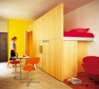 Small-Space Living: Simple Loft Bedroom Design Idea ...