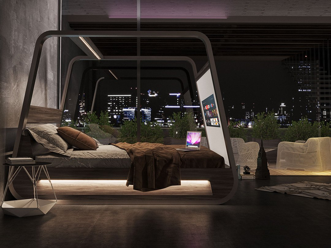 Smart Beds For Small Rooms High Tech Smart Bed With Built In Tv