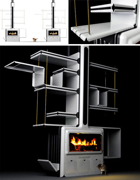 Hot Shelves Metal Fireplace Modular Mantel Shelf System