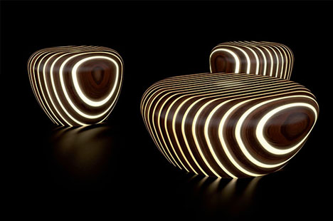 Light Wood Literally Glow In The Dark Outdoor Furniture
