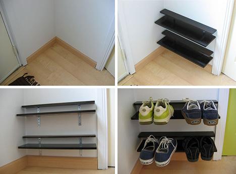 Paired Down Diy Elegantly Simple Space Saving Shoe Rack