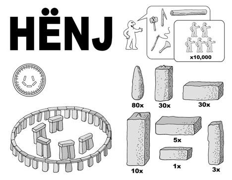 IKEA HENJ 8-Step DIY Instruction Manual for Stonehenge - instruction manual