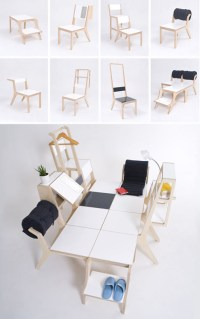 8 Multi-Purpose Chairs Have 2 Modes & Combine into a Bed