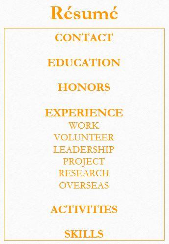Resume/CV \u003e USC Dana and David Dornsife College of Letters, Arts