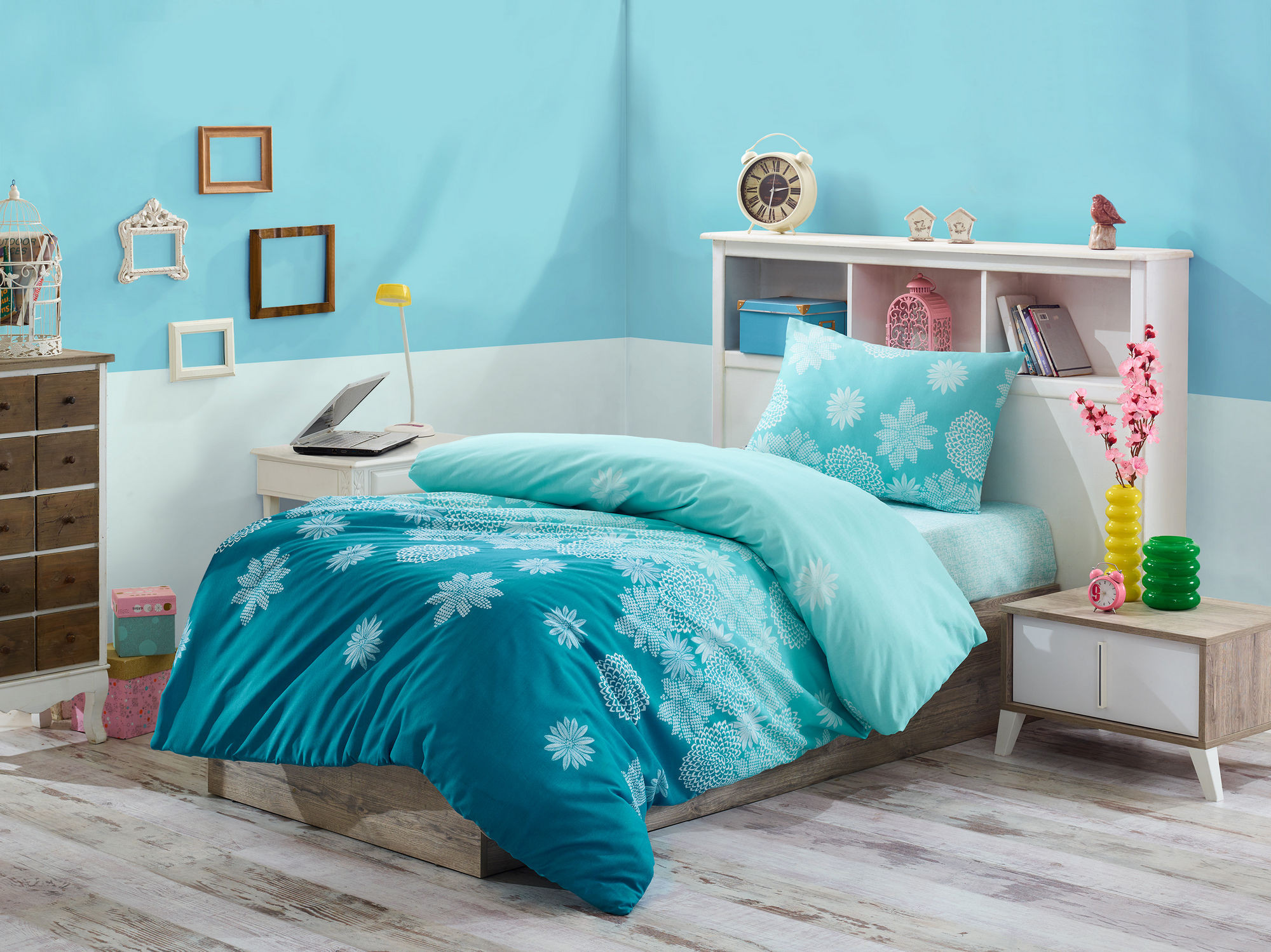 Turquoise Quilt Cover Turquoise And White Duvet Cover Miguel Barcelo