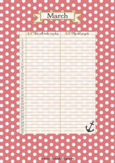 Dot Oddity Calendar March