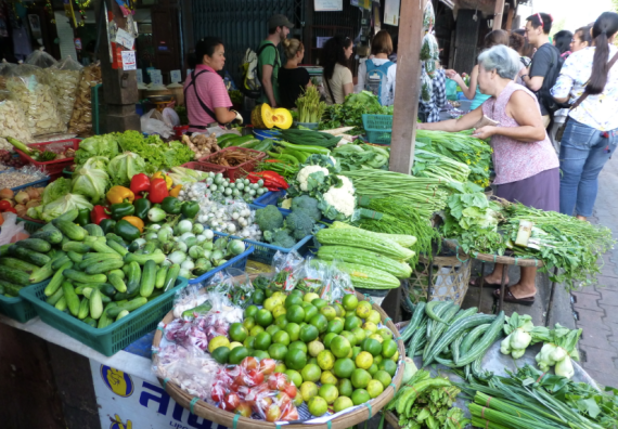 Vegetables in a Thai market