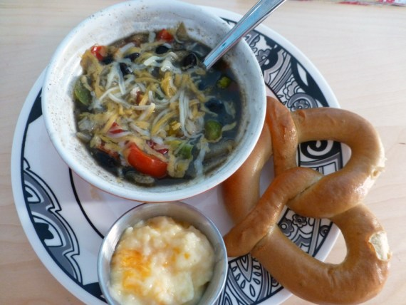 Black Bean Soup and Pretzel from Diet to Go