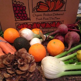 hen of the woods CSA Farm fresh agriculture box