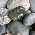 LOVE rock in the Intention Garden