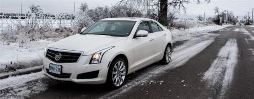 2014 Cadillac ATS 3.6 in snow
