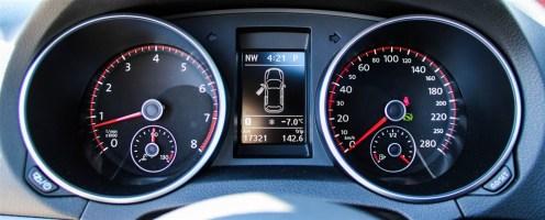 A Farewell: Mk VI Volkswagen GTI instrument cluster