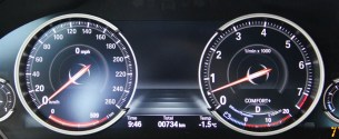 2014 BMW 750i xDrive instrument cluster