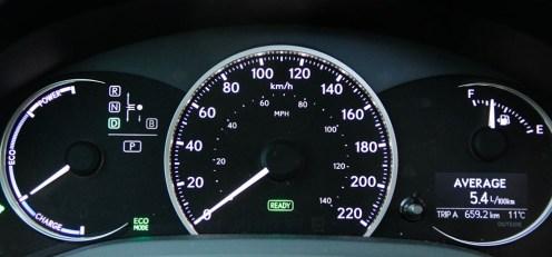 2014 Lexus CT200h F-Sport instrument cluster