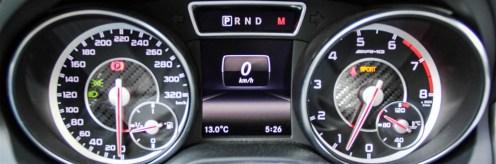 2014 Mercedes-Benz CLA45 AMG instrument cluster