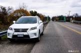 2015 Lexus RX450h SportDesign front distance