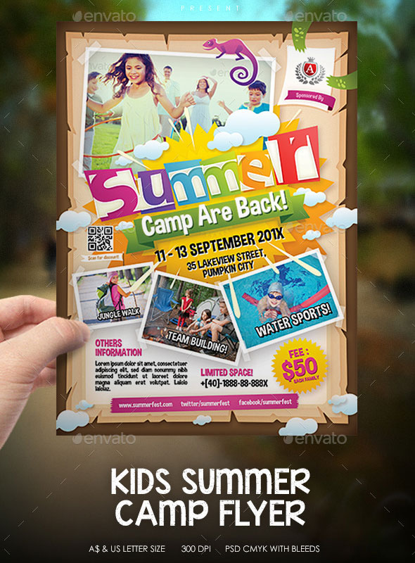 free summer camp flyer template - Minimfagency