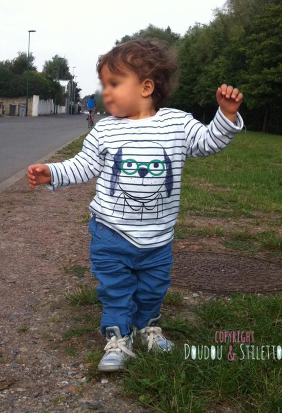 Jean Zara, chaussures 10is, t-shirt Monoprix