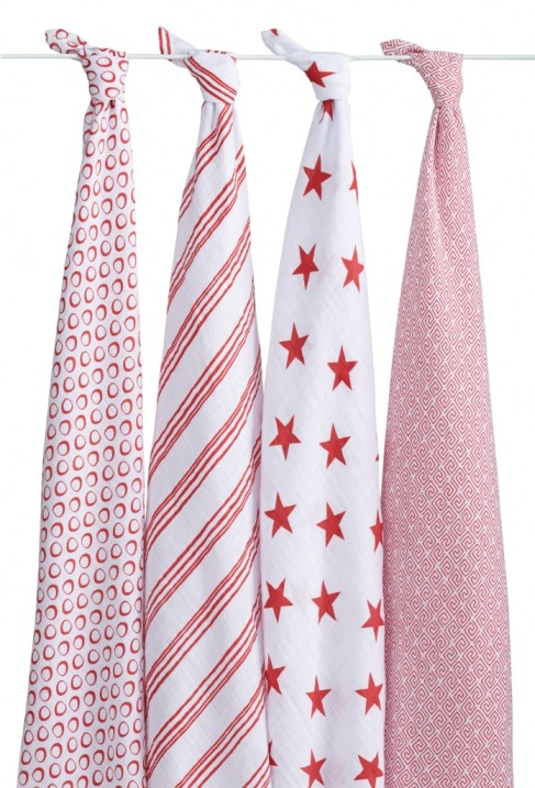Red exclusive swaddles