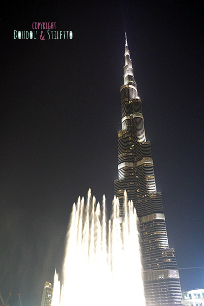 Dubai mall burj khalifa spectacle fontaines