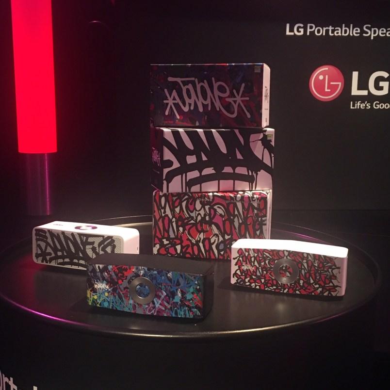 LG portable speaker art
