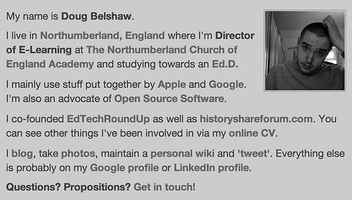 Doug Belshaw - old profile