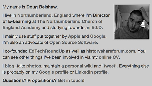 Doug Belshaw - old profile
