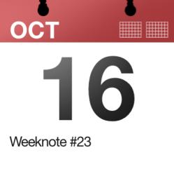 Weeknote #23