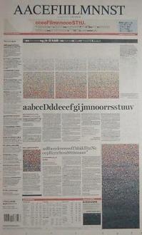 Alphabetical newspaper