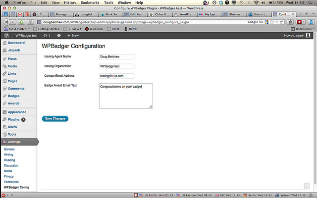 Configure WPBadger
