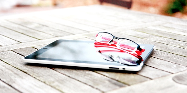 iPad and glasses