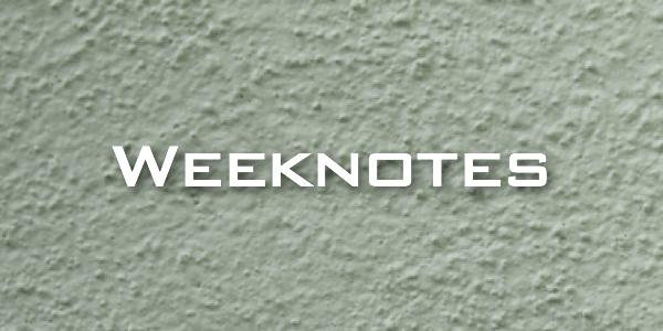 Weeknote 09/2013