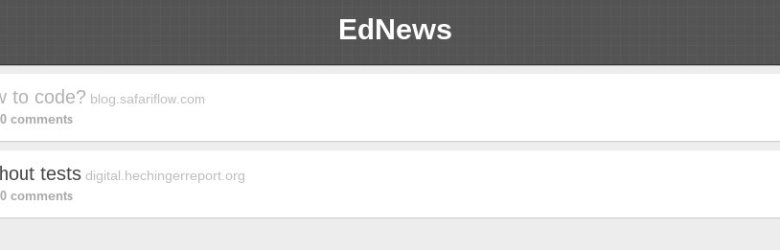 EdNews Aggregate all the things