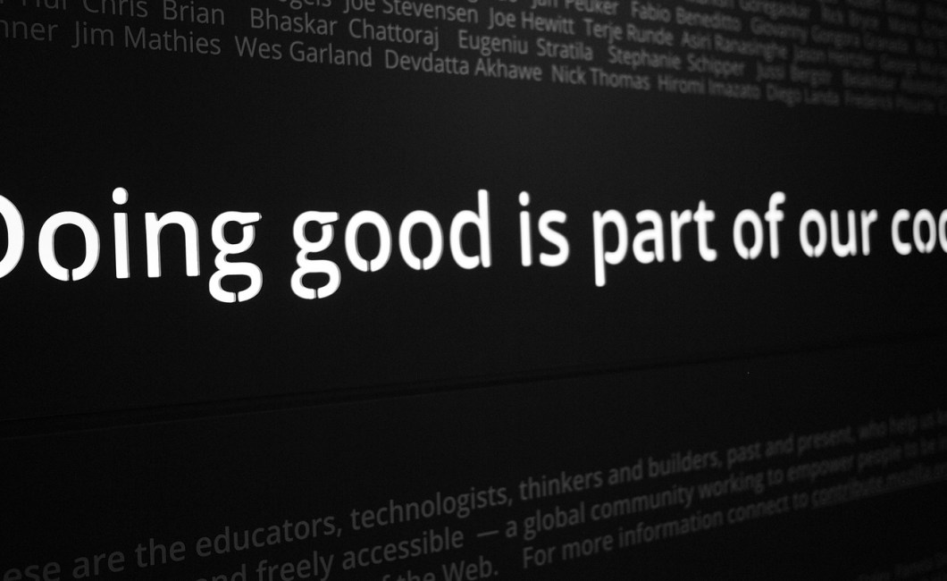 Doing good is part of our code
