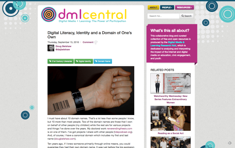 Digital Literacy, Identity and a Domain of One's Own