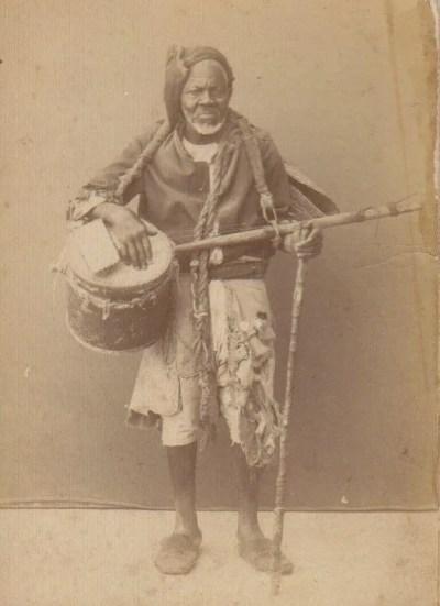 Gnawa Musician With Gimbri