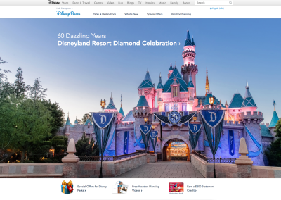 eCommerce – Disney Parks and Resorts Digital