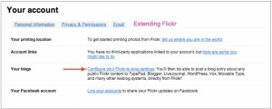 Configure Your Flickr-to-Blog Settings