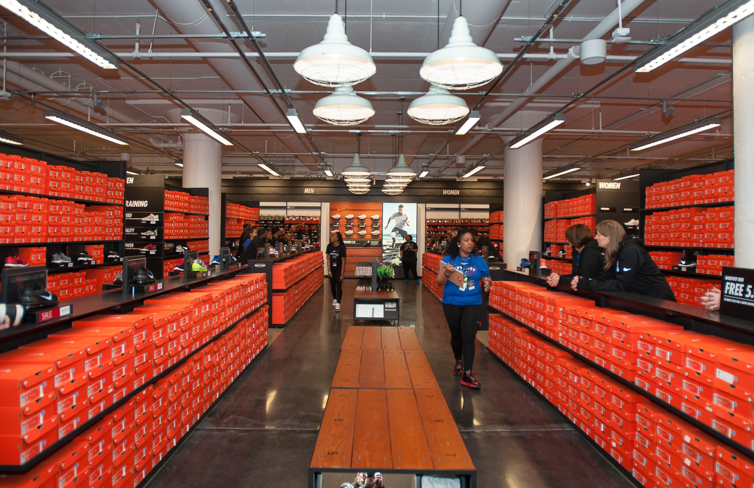 Warehouse Website Nike Opens At The Hecht Warehouse District Douglas