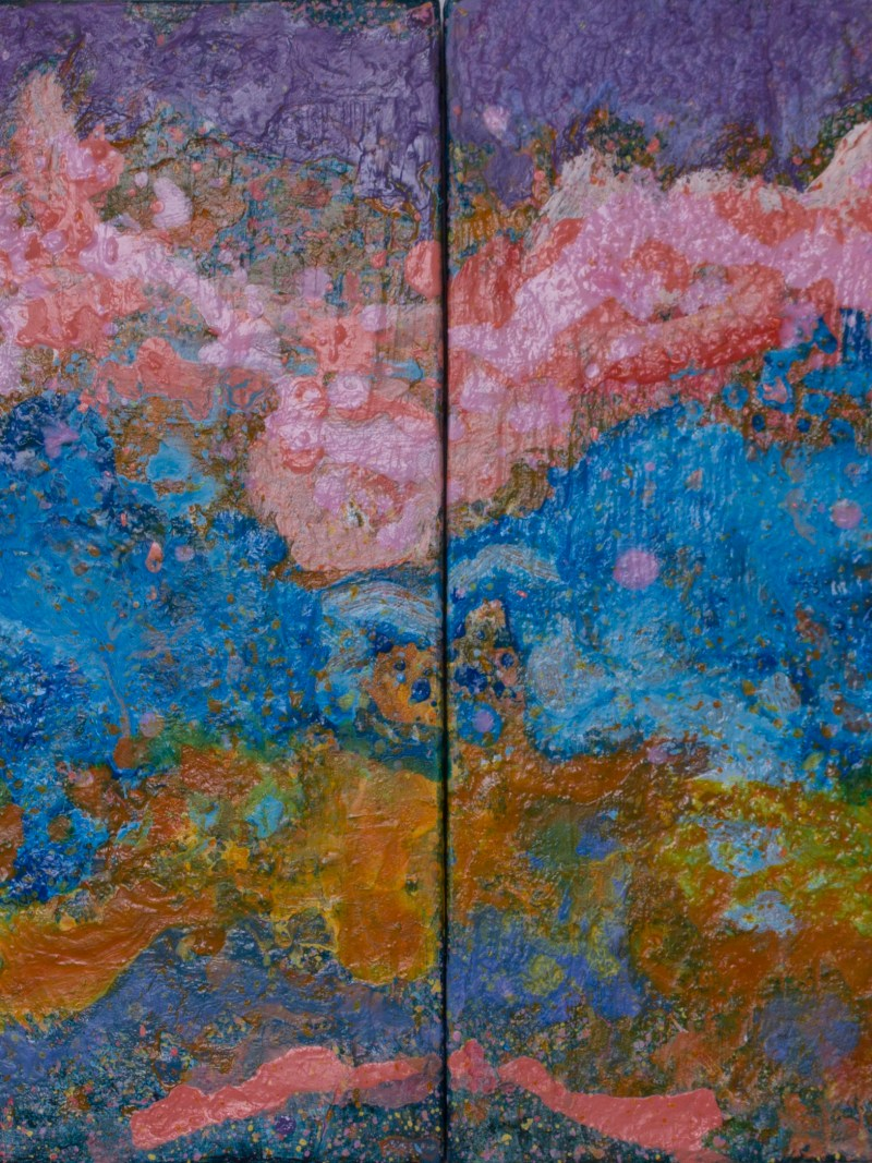 Moving On, (Diptych), 2015, Mixed Media, 14x22