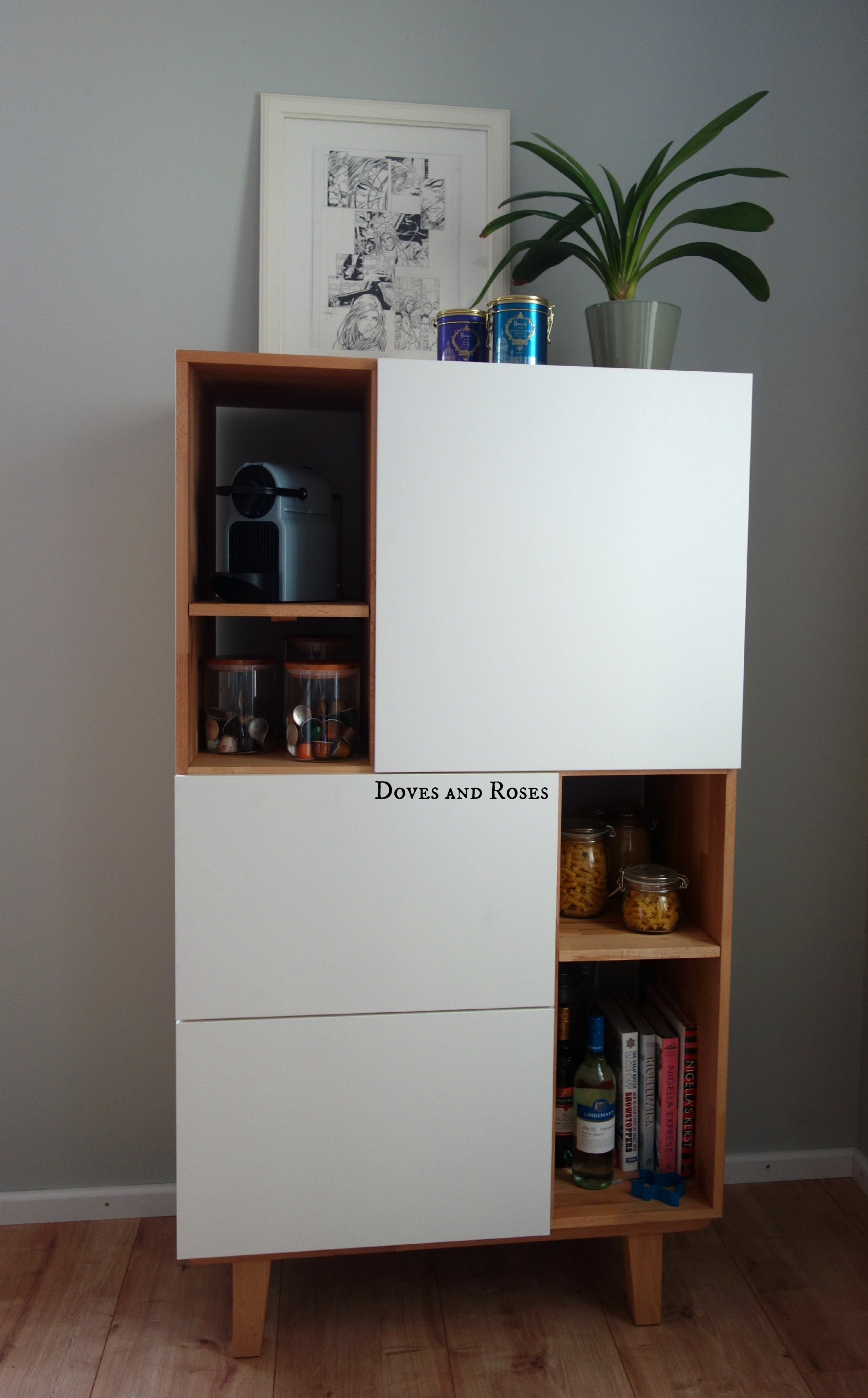 Ikea Küche Heck Ikea Hack Danish Inspired Storage Cabinet Doves And Roses