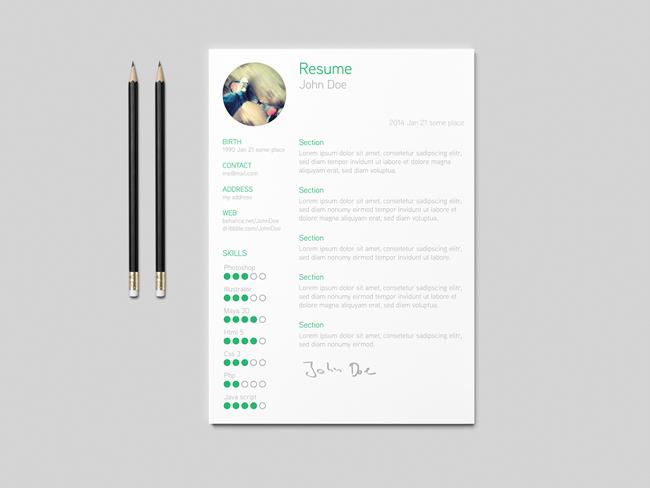 25 Beautiful Free Resume Templates 2018 - DoveThemes
