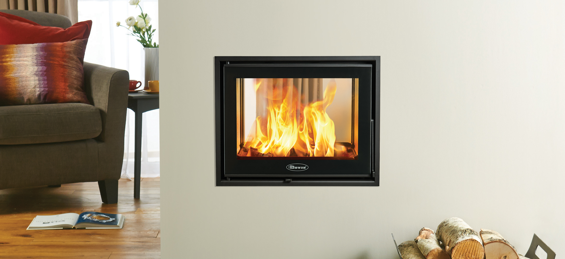 Insert Double Combustion Dovre Zen 102 Wood Burning Fires