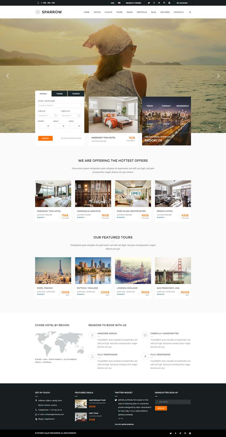 Booking Site 10 Best Hotel Website Templates For Hotel And Travel Booking Sites