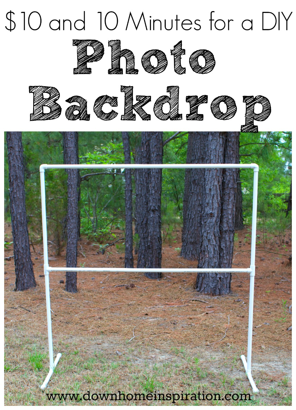10 And 10 Minutes For A Diy Photo Backdrop Down Home Inspiration