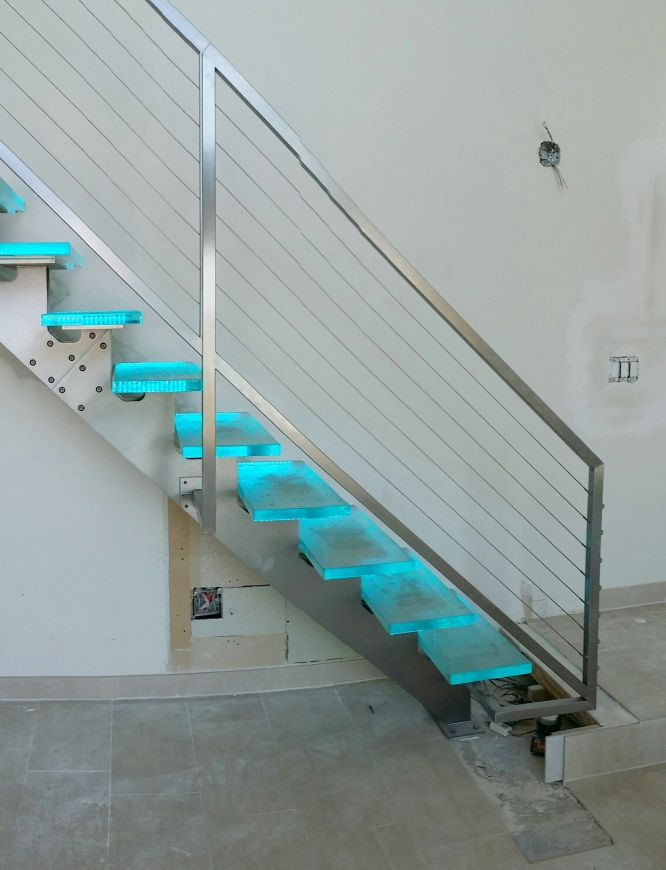 Glass Stair Treads Downing Designs